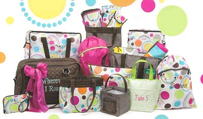Thirty One Gifts Polka Dot Bags